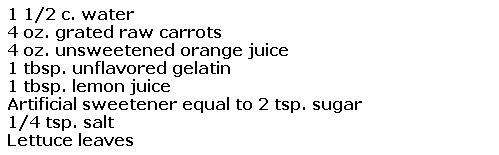 carrot and orange salad.